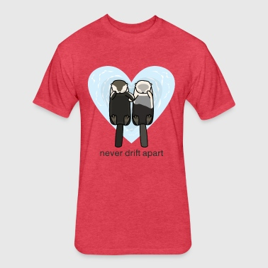 Sea Otters In Love - Fitted Cotton/Poly T-Shirt by Next Level