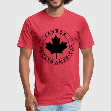 Canada Design - Fitted Cotton/Poly T-Shirt by Next Level