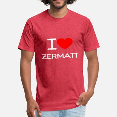 Zermatt I LOVE ZERMATT - Fitted Cotton/Poly T-Shirt by Next Level