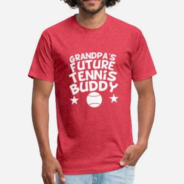 Tennis Grandpa Grandpa's Future Tennis Buddy - Fitted Cotton/Poly T-Shirt by Next Level