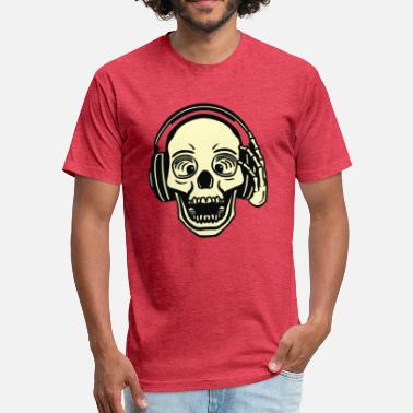 Dj Skull DJ Skull - Fitted Cotton/Poly T-Shirt by Next Level
