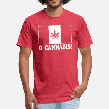 O Canada O-Cannabis - Fitted Cotton/Poly T-Shirt by Next Level