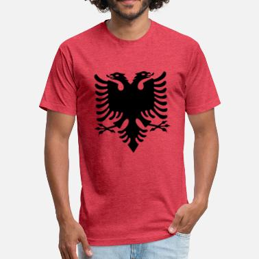 Proud To Be Albanian Albanian Eagle design - Fitted Cotton/Poly T-Shirt by Next Level