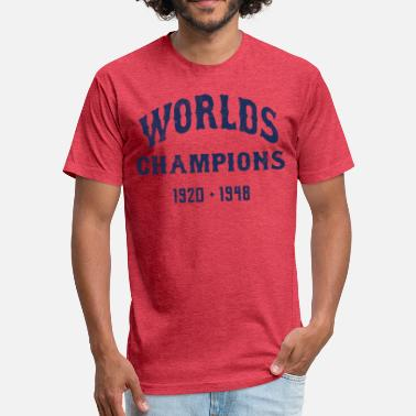 Indians Worlds Champions Indians T-Shirt - Heather Red - Fitted Cotton/Poly T-Shirt by Next Level