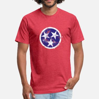 Tennessee Distressed Tennessee Flag - Fitted Cotton/Poly T-Shirt by Next Level