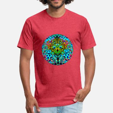 Psychedelic Quotes Psychedelic Sphere - Fitted Cotton/Poly T-Shirt by Next Level