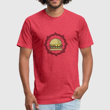 Burger Lovers - Fitted Cotton/Poly T-Shirt by Next Level