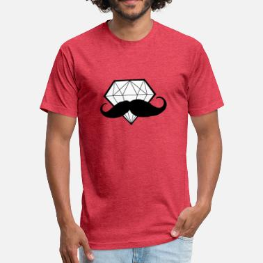 Bling Swag Diamond with Moustache - Hipster - Swag - Fitted Cotton/Poly T-Shirt by Next Level