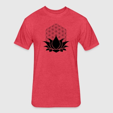 Sacred Lotus - Fitted Cotton/Poly T-Shirt by Next Level