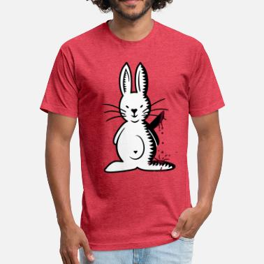 Knife Bunny ripper bunny (front, 3c) - Unisex Poly Cotton T-Shirt