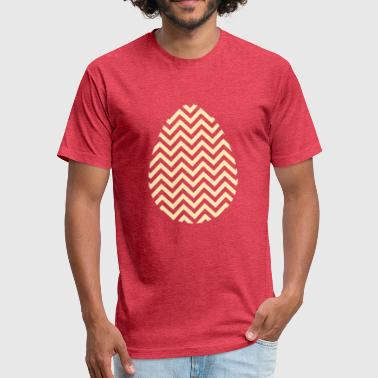 Golden Egg Gold Easter Egg Chevron - Fitted Cotton/Poly T-Shirt by Next Level
