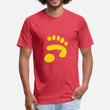 Panda Paw panda paw print - Fitted Cotton/Poly T-Shirt by Next Level