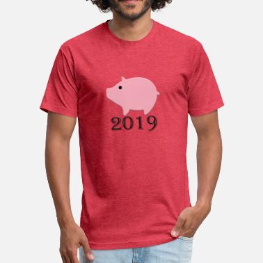 Zhu year of the pig - Fitted Cotton/Poly T-Shirt by Next Level