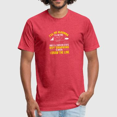 Mathematics Signs Mathematics Graphing Is Where Draw Line - Fitted Cotton/Poly T-Shirt by Next Level