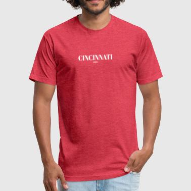Cincinnati Baseball OHIO CINCINNATI US DESIGNER EDITION - Fitted Cotton/Poly T-Shirt by Next Level