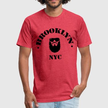 Brooklyn NYC - Fitted Cotton/Poly T-Shirt by Next Level
