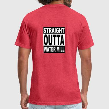 kneeslap STRAIGHT OUTTA WATER MILL - Fitted Cotton/Poly T-Shirt by Next Level