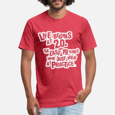Bursdag Life begins at 20! - Unisex Poly Cotton T-Shirt
