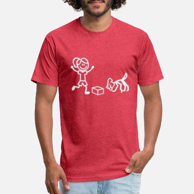 Scent Nosework Stick Figures - Unisex Poly Cotton T-Shirt