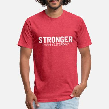 4cfac0a4 Funny Weight Loss Funny Weight Loss - Stronger Than Yesterday -Humor -  Unisex Poly Cotton. Unisex Poly Cotton T-Shirt
