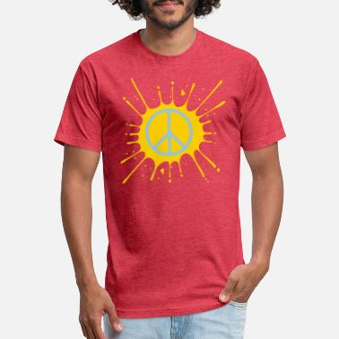 Protestant Peace Love peace symbol symbol hippie peace war protest love - Unisex Poly Cotton T-Shirt