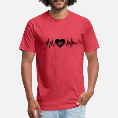 Heart Rate Heart Rate Love - Unisex Poly Cotton T-Shirt