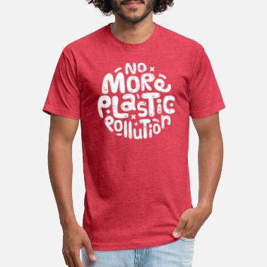 No More Plastic Pollution - Environmental - Unisex Poly Cotton T-Shirt