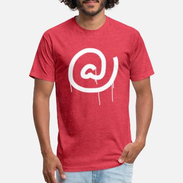 Tag Dripping at symbol - Unisex Poly Cotton T-Shirt
