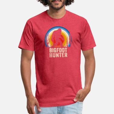 Bigfoot Hunter Bigfoot Hunter Finding Bigfoot Apparel - Fitted Cotton/Poly T-Shirt by Next Level