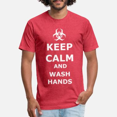 White Keep Calm And Wash Hands - Unisex Poly Cotton T-Shirt