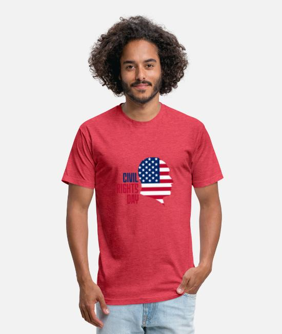 Paragraph T-Shirts - Civil Rights Day Shirt - Unisex Poly Cotton T-Shirt heather red