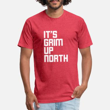 North Yorkshire IT S GRIM UP NORTH - Unisex Poly Cotton T-Shirt