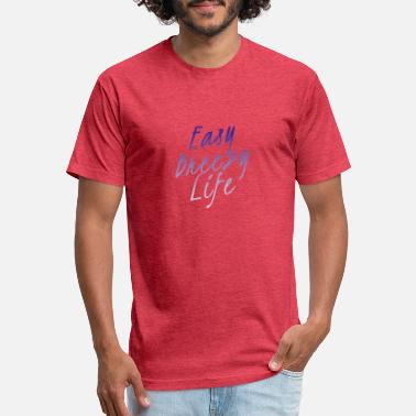 Breezy Easy Breezy Life - Unisex Poly Cotton T-Shirt