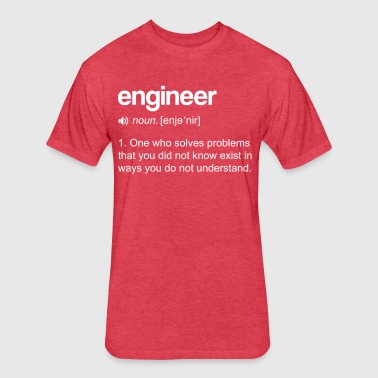 Engineer Definition - Fitted Cotton/Poly T-Shirt by Next Level