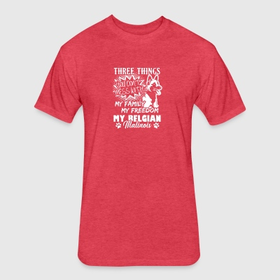 Three Things With My Belgian Malinois Shirt - Fitted Cotton/Poly T-Shirt by Next Level