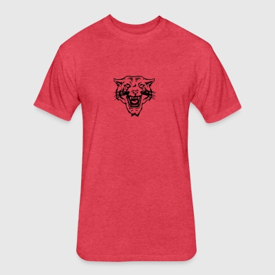Lion - Fitted Cotton/Poly T-Shirt by Next Level