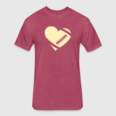 NFL HEART FOOTBALL - Fitted Cotton/Poly T-Shirt by Next Level