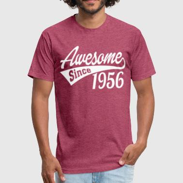 Since 1956 Awesome Since 1956 - Fitted Cotton/Poly T-Shirt by Next Level