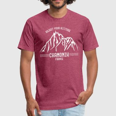 Chamonix France - Fitted Cotton/Poly T-Shirt by Next Level