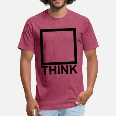 Outside Think_black - Fitted Cotton/Poly T-Shirt by Next Level