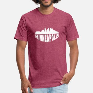 Minneapolis Skyline Minneapolis MN Cityscape Skyline - Fitted Cotton/Poly T-Shirt by Next Level