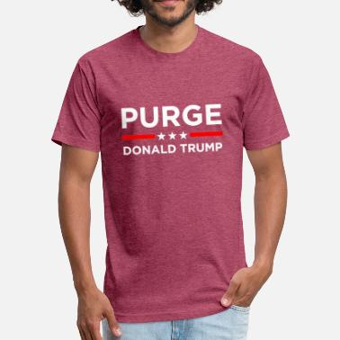The Purge Purge President Donald - Fitted Cotton/Poly T-Shirt by Next Level