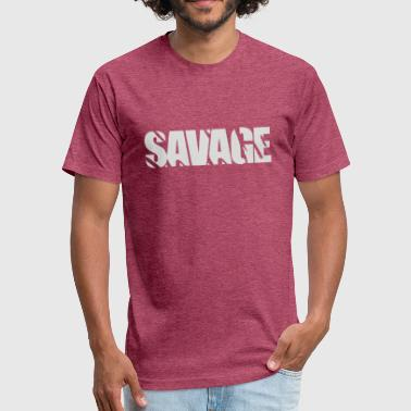 Savage Music Savage - Fitted Cotton/Poly T-Shirt by Next Level