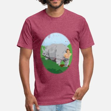 WarmInTheseRhinos - Fitted Cotton/Poly T-Shirt by Next Level
