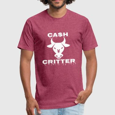 Cash cow critter Funny - Fitted Cotton/Poly T-Shirt by Next Level