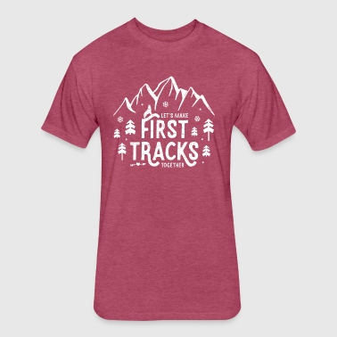 First Tracks - Fitted Cotton/Poly T-Shirt by Next Level