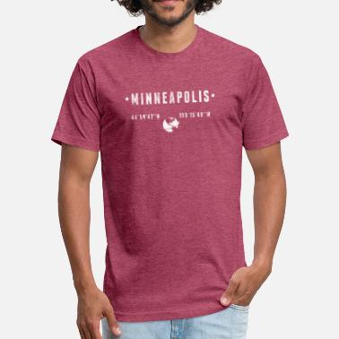 Minneapolis Minneapolis - Fitted Cotton/Poly T-Shirt by Next Level