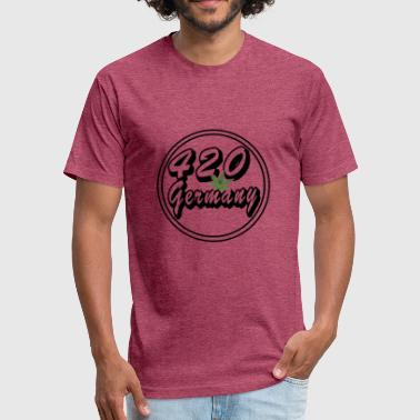 Good Old Germany 420 Germany Hemp Leaf - Fitted Cotton/Poly T-Shirt by Next Level