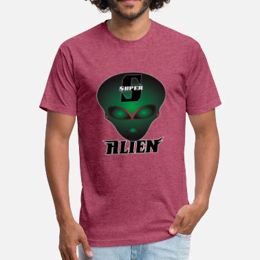 Plane Nerd Super Alien - Fitted Cotton/Poly T-Shirt by Next Level