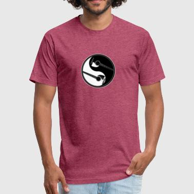 Yin Yang Guitar Yin Yang Guitars Peace Sign - Fitted Cotton/Poly T-Shirt by Next Level
